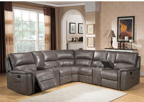 Outstanding Amax Sacramento Leather Sectional Leather Reclining Evergreenethics Interior Chair Design Evergreenethicsorg