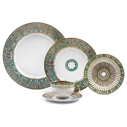 Haviland & Parlon Syracuse 5 Piece Place Setting, Turquoise