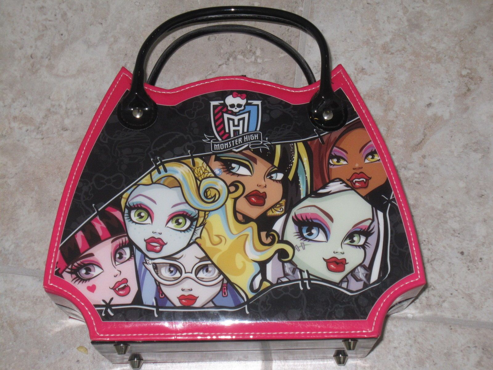 monster high toys | New Monster High Toy Makeup Kit Scary Stylin Set Case Girls Dress Up ...