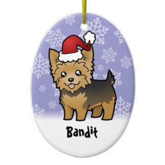 Yorkshire Terrier Christmas Ornaments Yorkie Yorkshire Terrier