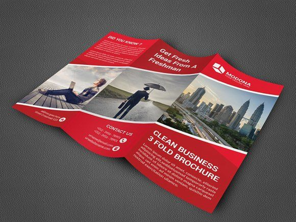 Trifold Business Brochure By Vazon On Creativemarket Brochure - 3 folded brochure template