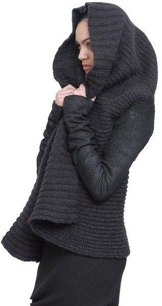 Rick Owens Alpaca and Silk Short Cardigan Sweater in Gray - Lyst