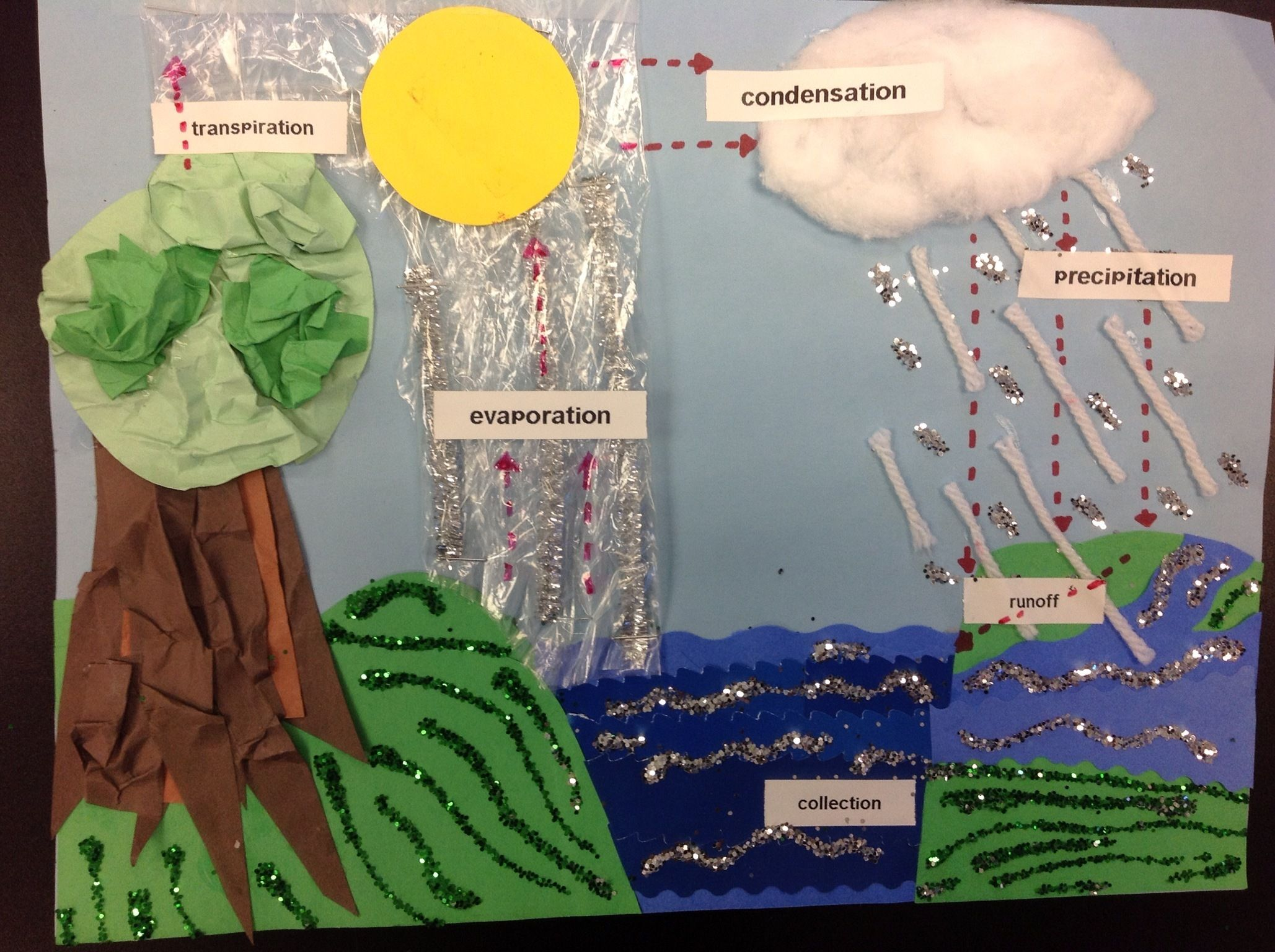 water cycle project The water cycle for schools and students: advanced students the water cycle describes how earth's water is not only always changing forms, between liquid (rain), solid (ice), and gas.