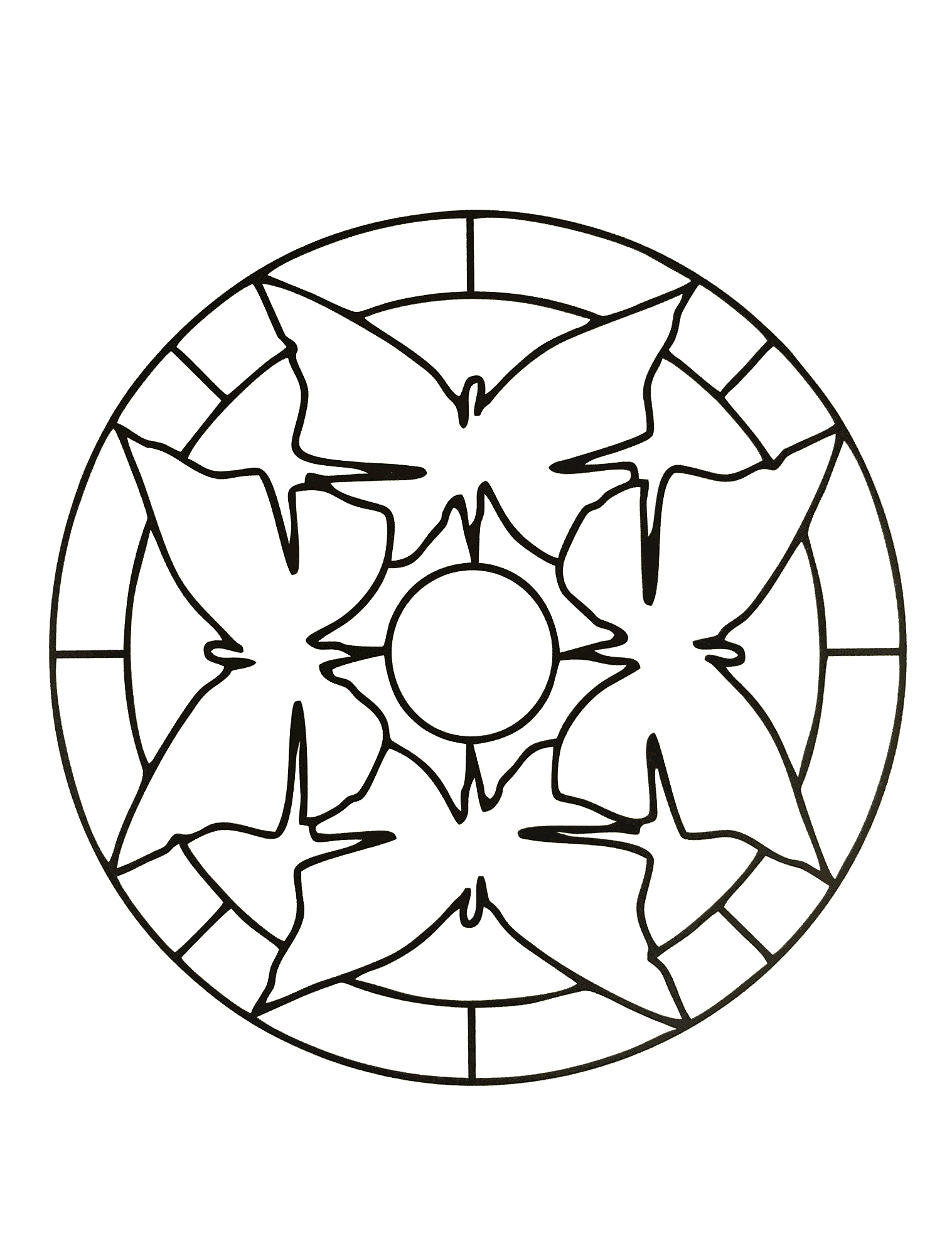 In these pages, we offer you Easy Mandala coloring pages for kids ...