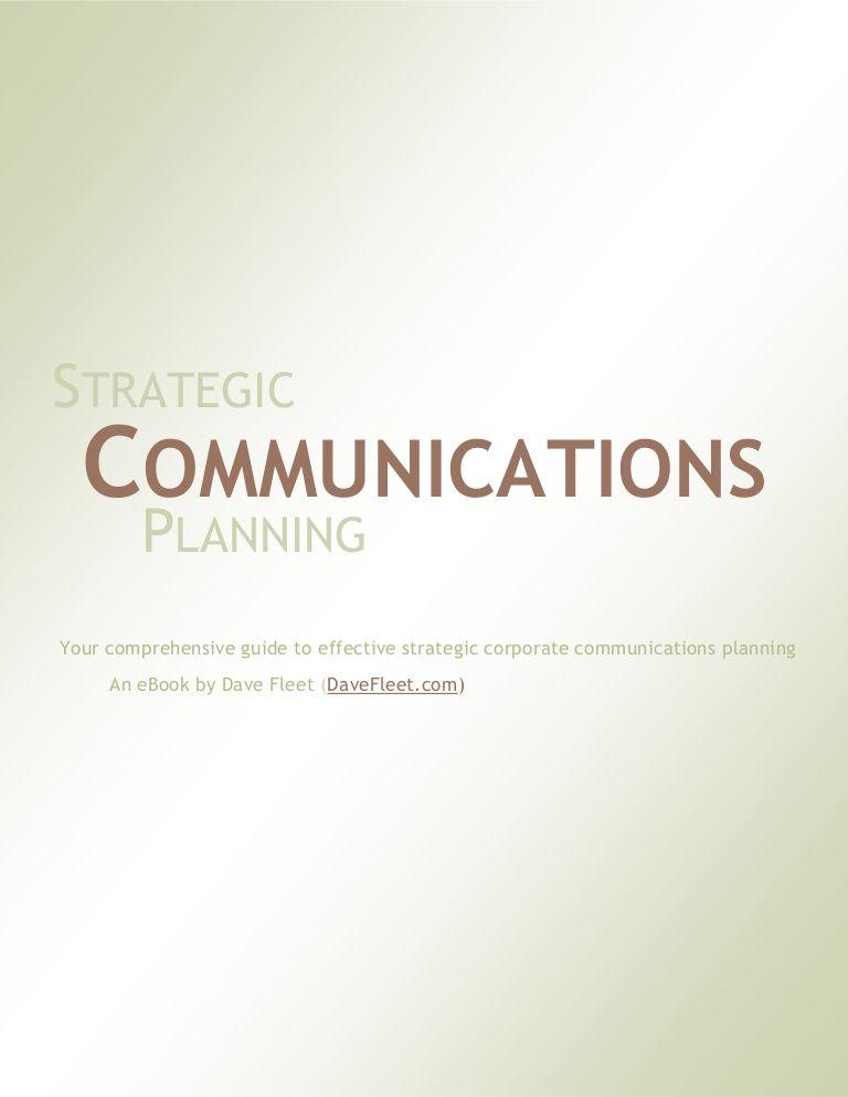 strategic-communications-planning-a-free-ebook by dave fleet via