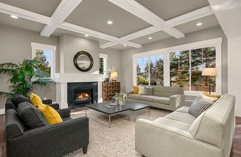 Colonnade Gray Sw 7641 Sherwin Williams Family Room In