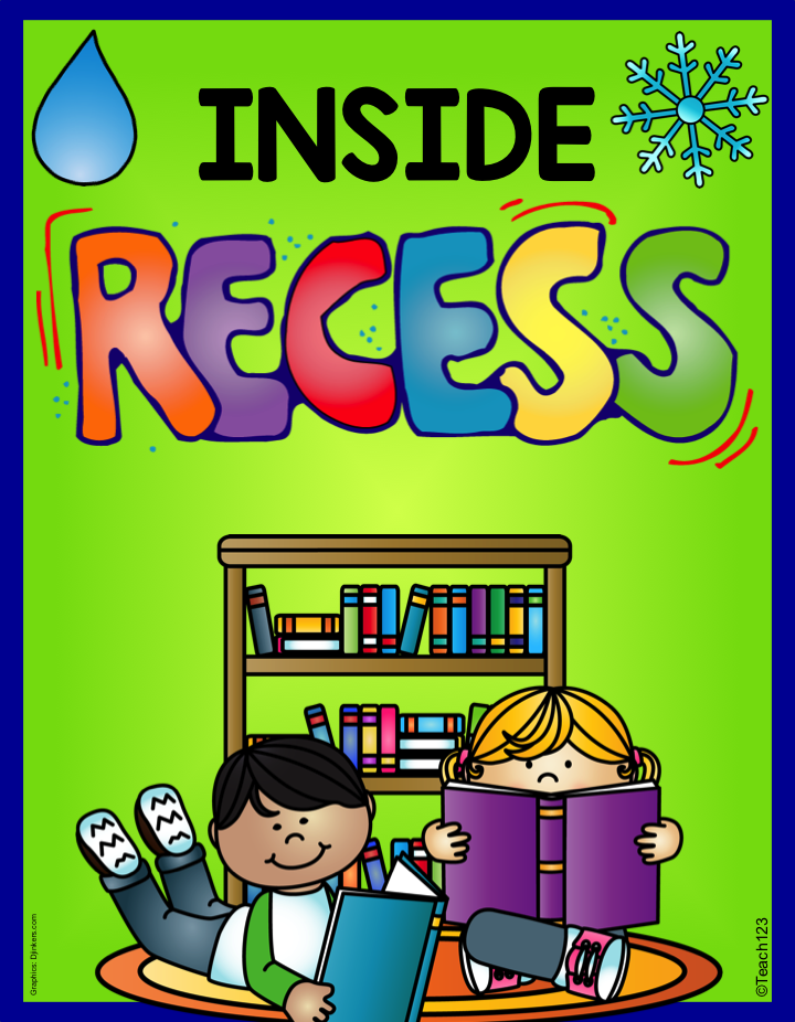 FREE Inside Recess activities and tips Recess activities
