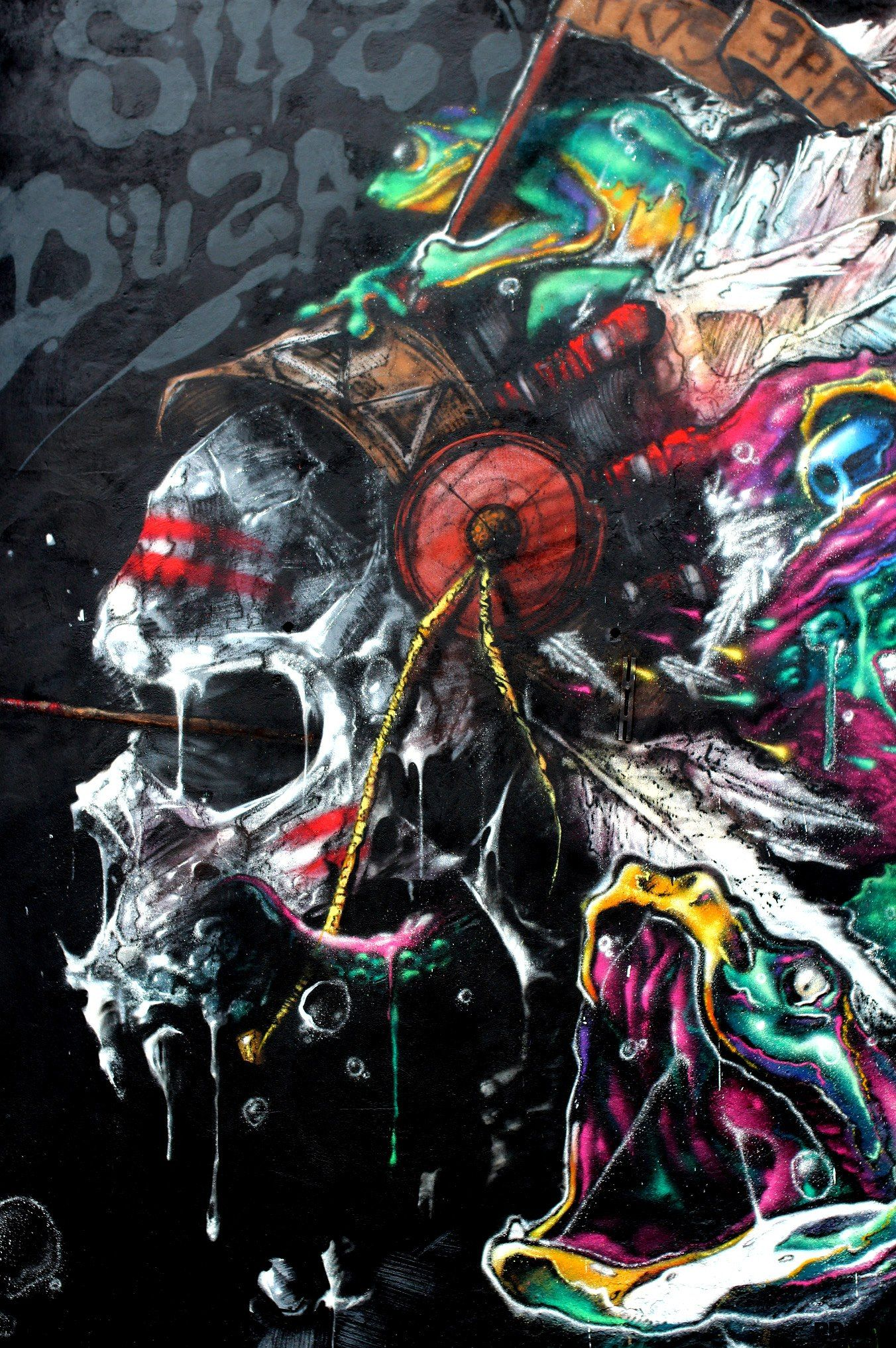 A1 PRINT INDIAN BLACK FEATHER NATIVE AMERICAN  POSTER graffiti street art