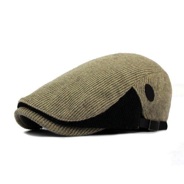 Unisex Cotton Knitted Beret Hat Knitting Buckle Adjustable Paper Boy  Newsboy Cabbie Gentleman Cap - Banggood a720d68cf8b1