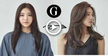 Long Curtain Bangs Korean