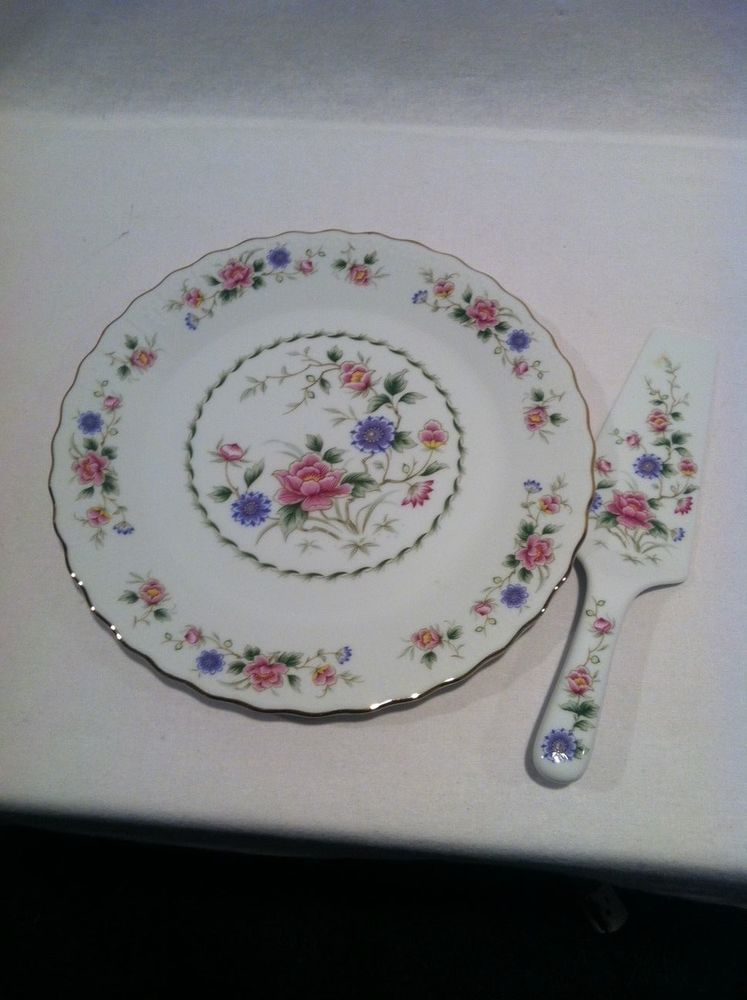 Spring Night Cake Plate and Server Andrea by Sadek Discontinued & Spring Night Cake Plate and Server Andrea by Sadek Discontinued | Cake
