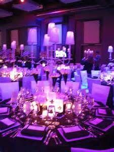 Ice Blue And Purple Wedding Decorations Uplighting Violet