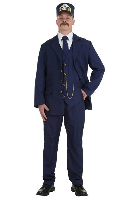 1a23aa6289 Fun Costumes Boys Adult Polar Express Conductor Fancy dress costume Standard