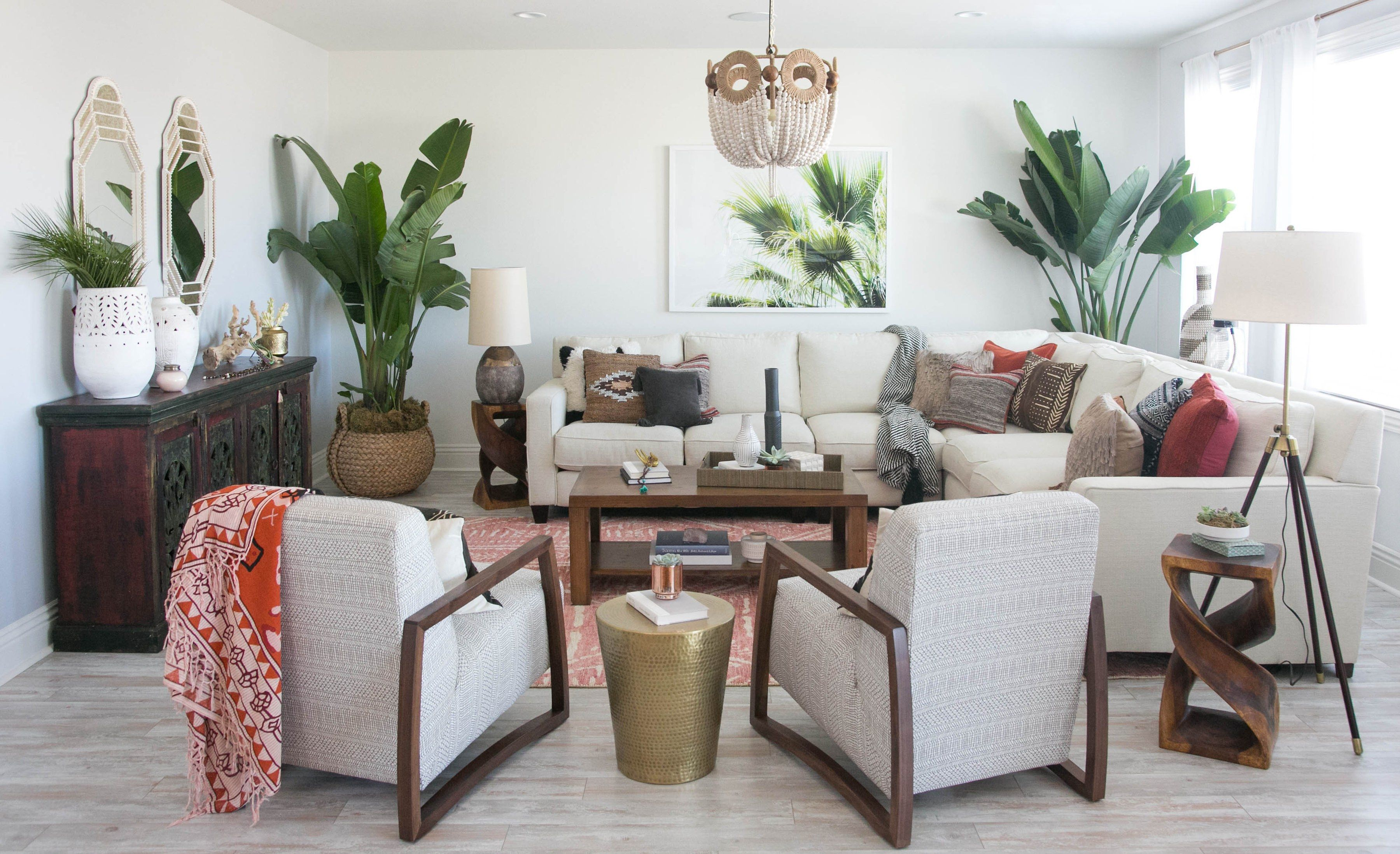 Audrina Patridge Revamps A Drab Kitchen And Living Room Into A Balinese Inspired Oasis Living Room Designs Popular Living Room Home Living Room