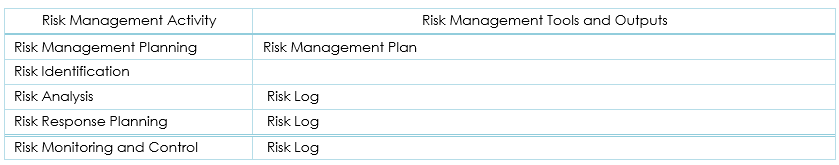 Risk Management Tools And Outputs  Risk Management Plan Template
