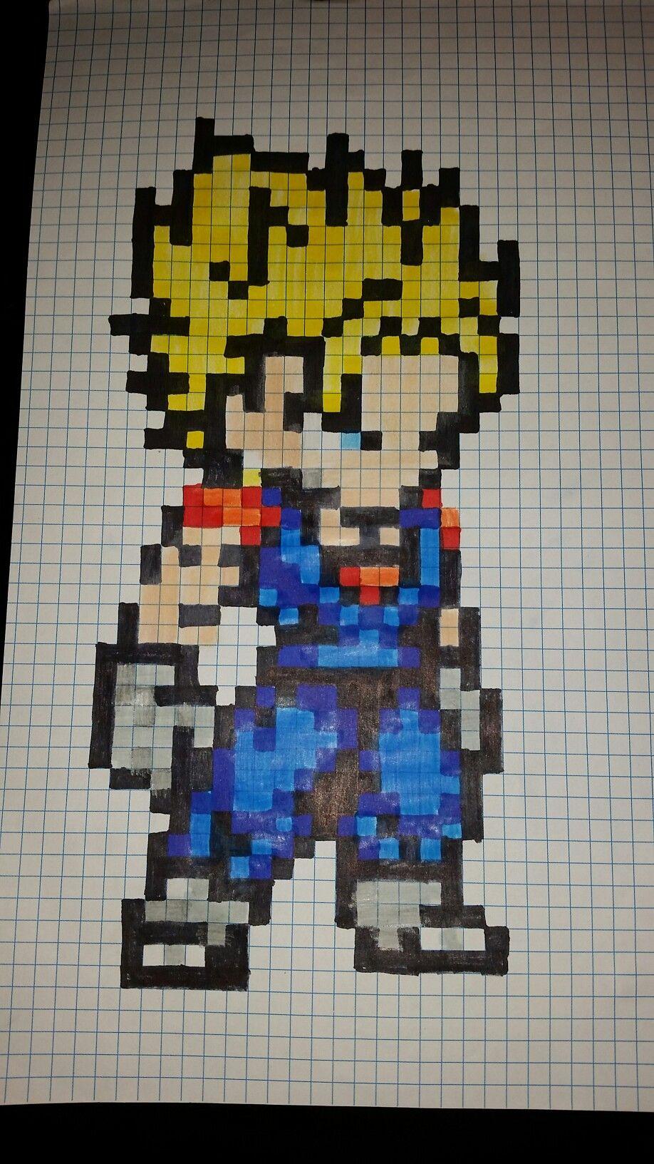 Vegetto pixel art | pixel art | Pixel drawing, Pixel Art y ...