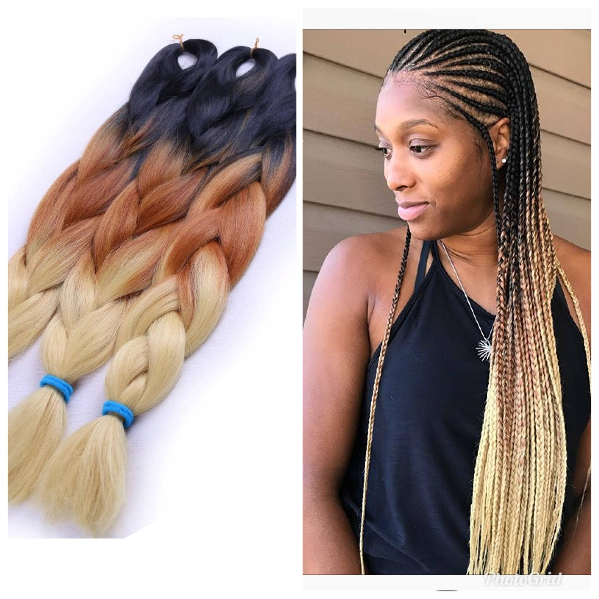 Jumbo Braiding Hair Black Brown Gold 5pcs Jumbo Braids Hair Extension Ombre Colors For Box Braids Senegalese Twist Jumbo Braiding Hair Hair Styles Ombre Hair