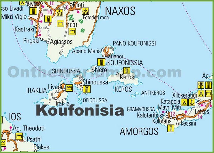 Koufonisia tourist map Maps Pinterest Tourist map and Greece