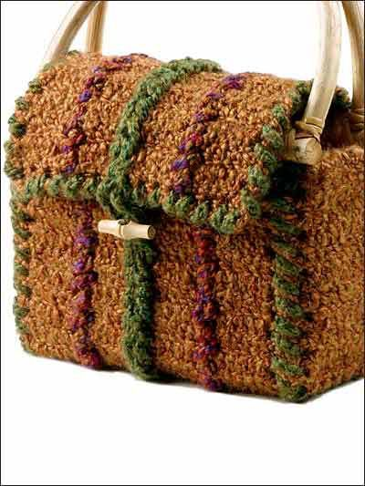 Crochet Accessories - Crochet Purse Patterns - Homespun Tote Free ...
