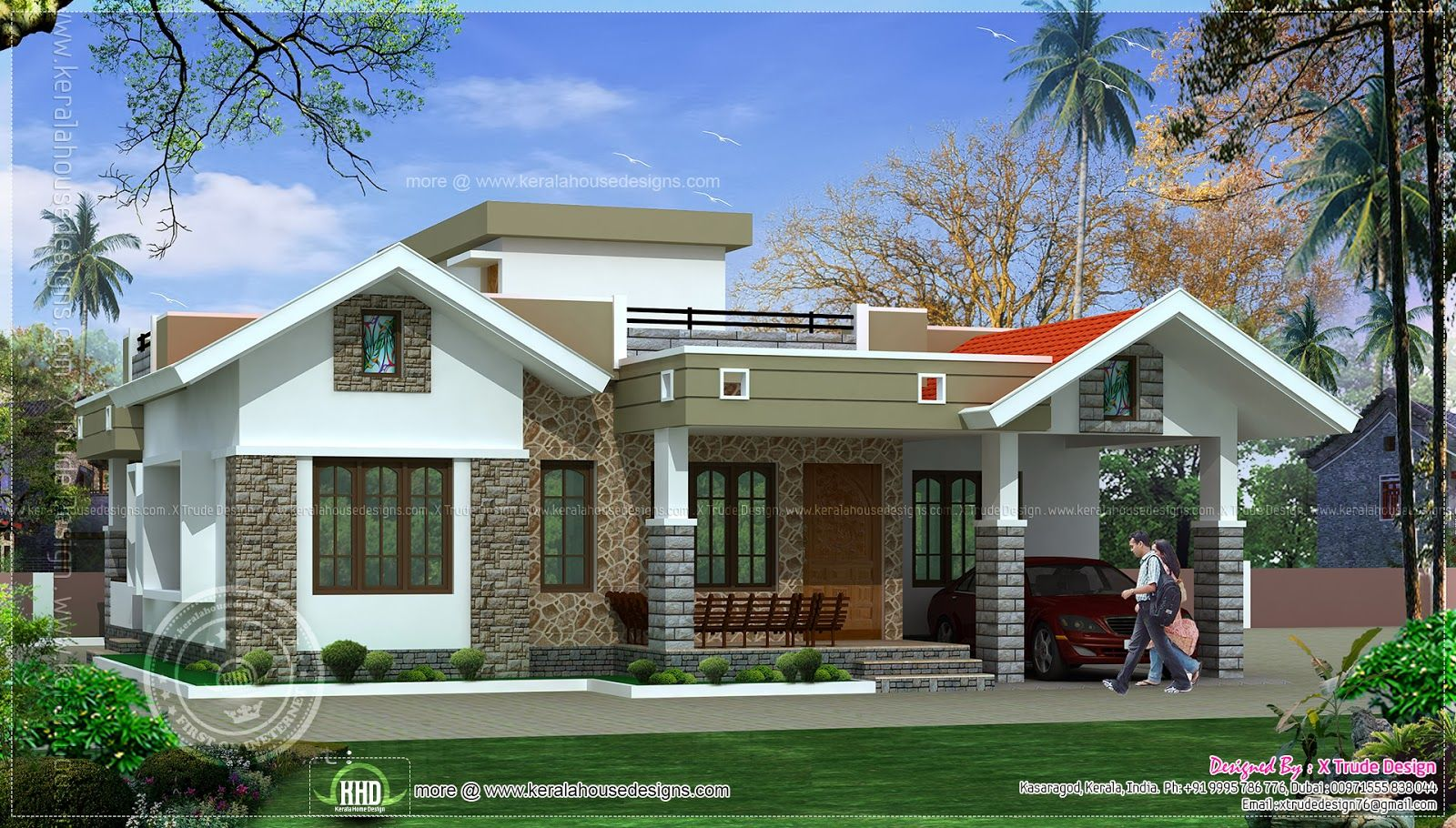 Incroyable One Floor Kerala Style Home Design
