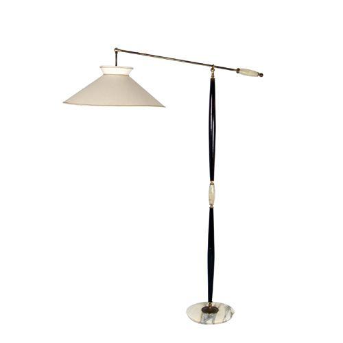 Italian 1940s Adjustable Floor Lamp Adjustable Floor Lamp Floor Lamp Lamp