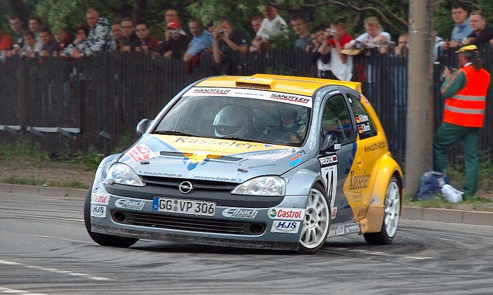 Opel Corsa S1600 rally car - Horst Rotter - Deutsche Rallye Meisterschaft DRM
