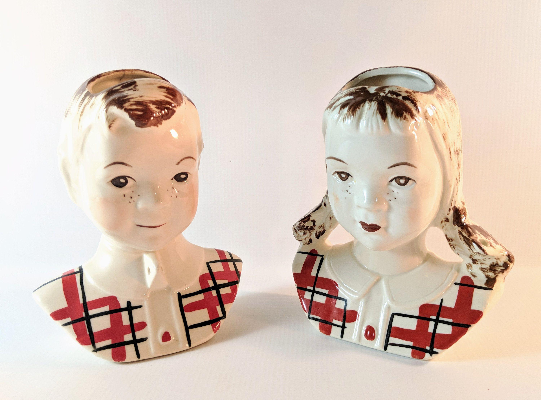 Vintage Pale Pink  Planter Vase Hollywood Ceramics Art Mid Century