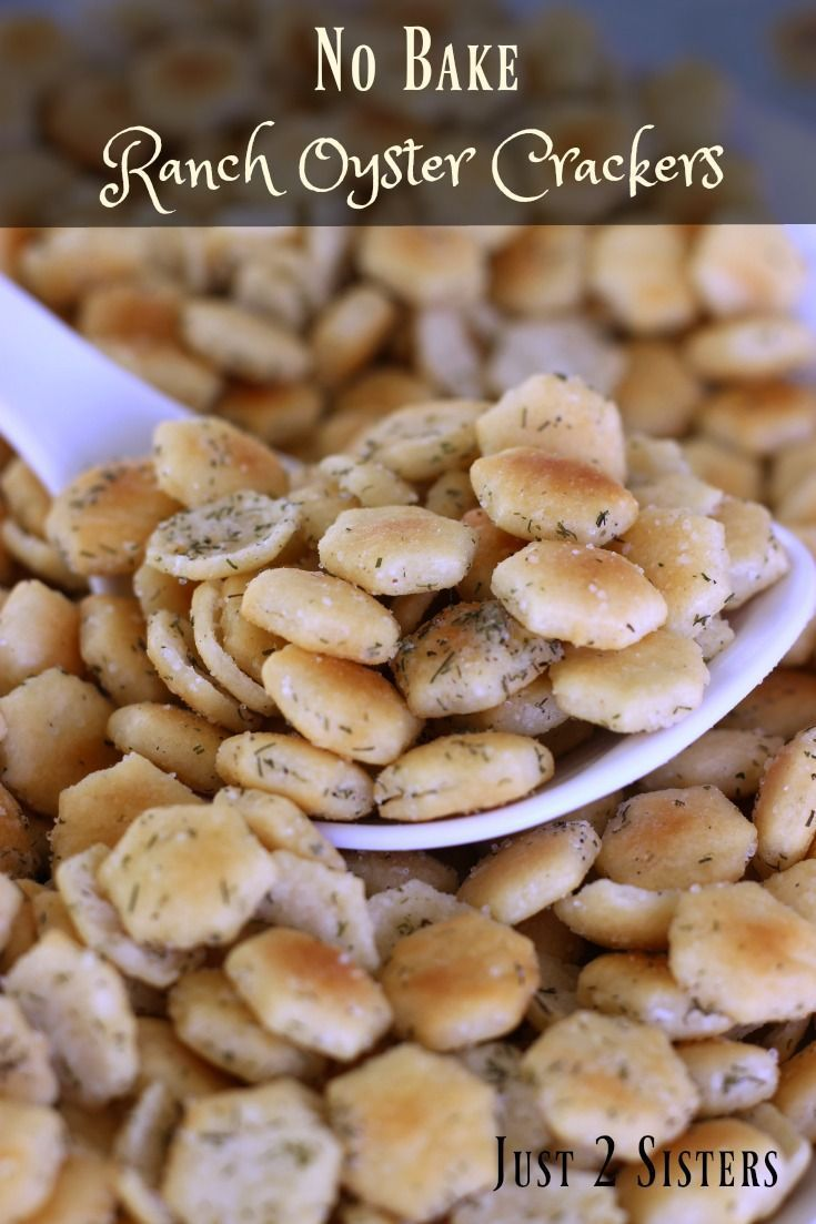 No bake ranch oyster crackers recipe snack mix recipes