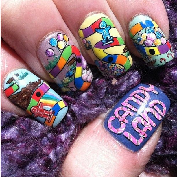 Candy Land | Cute and Easy Nail Art Ideas | Pinterest | Candy land ...