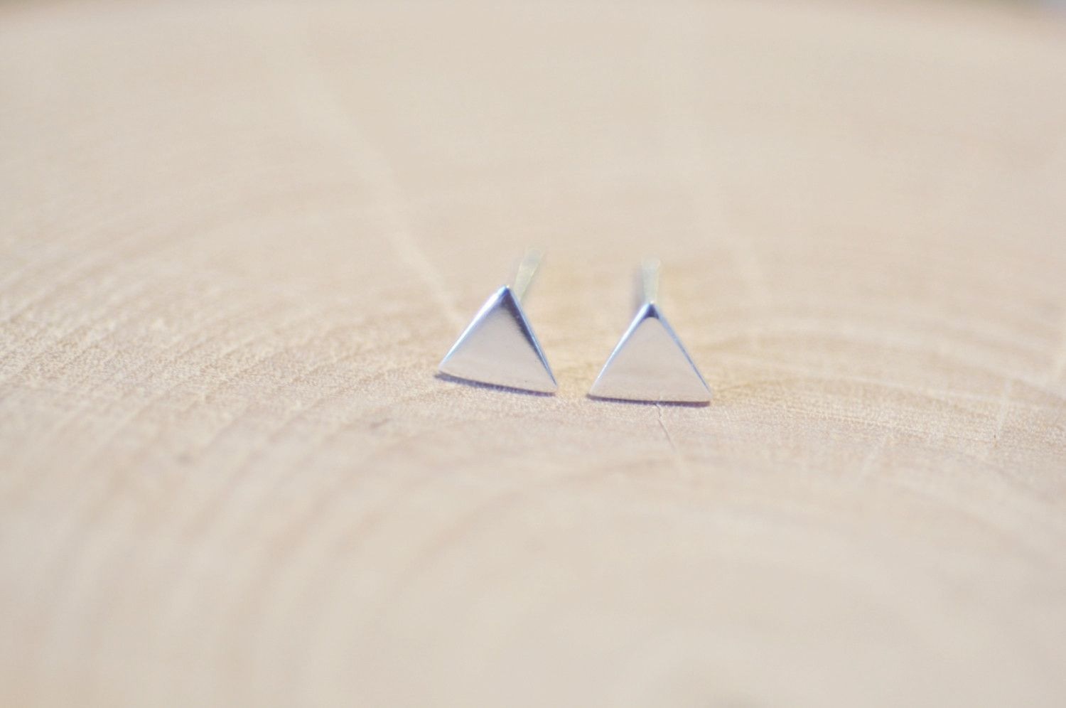 6ba802047 Simple Edgy Flat Triangle Stud Earrings...minimalist earrings...small  enough for everyday wear! * Triangle measures 5mm * Made from Solid Sterling  Silver ...