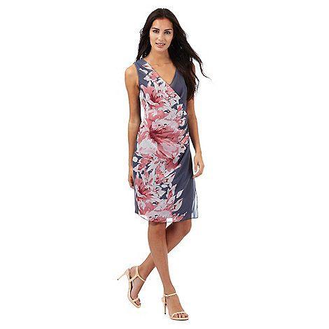 Explore Amber, Women's Dresses, and more! RJR.John Rocha Grey lilly print  midi dress ...