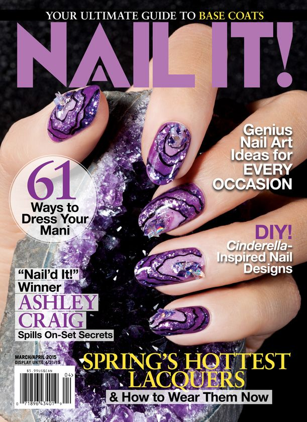 The March/April Nail It! Magazine cover! | Glitter/Sparkle Nails ...