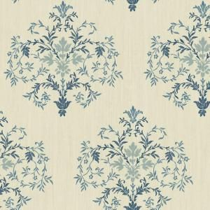 The Wallpaper Company 8 in. x 10 in. Blue Delicate Mid