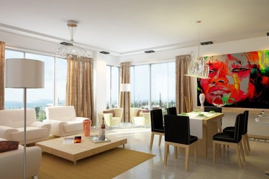 Decoracion de sala comedor y cocina en un solo ambiente for Decoracion ambientes