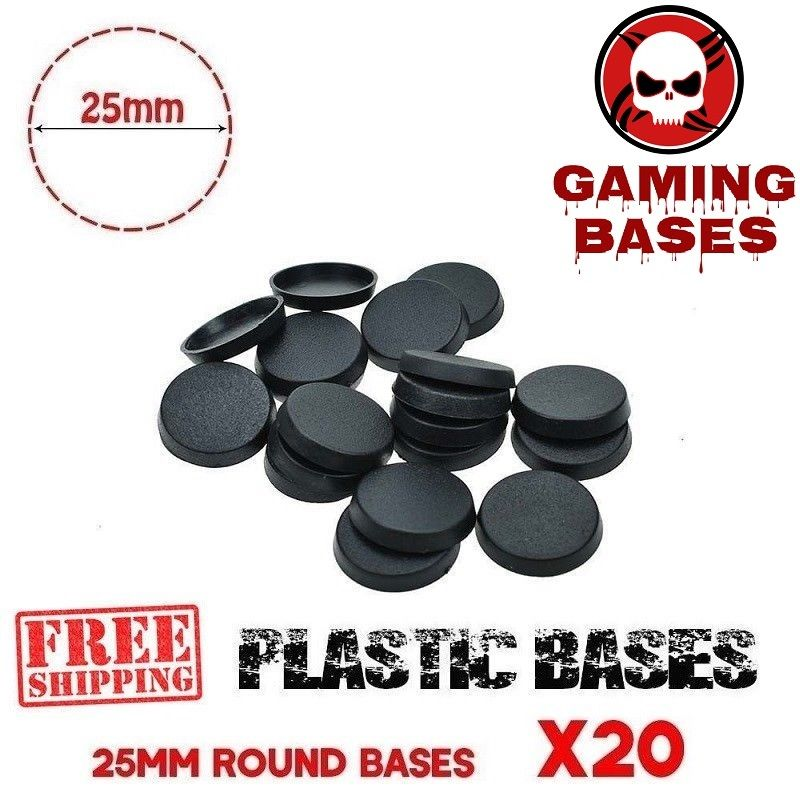 40pcs x 20 mm Gaming Miniatures bases Square Plastic Bases for Wargames Model