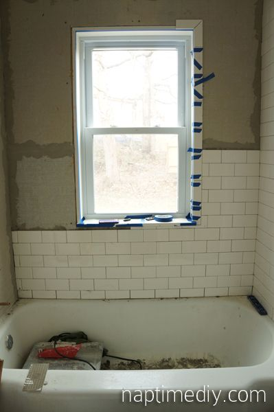 Subway Tile Around A Window Google Search Tile Around