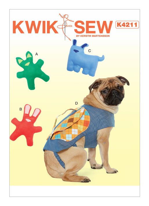 Kwik Sew K4211 pattern. Dog Toys with Contrast Ears and Nose ...