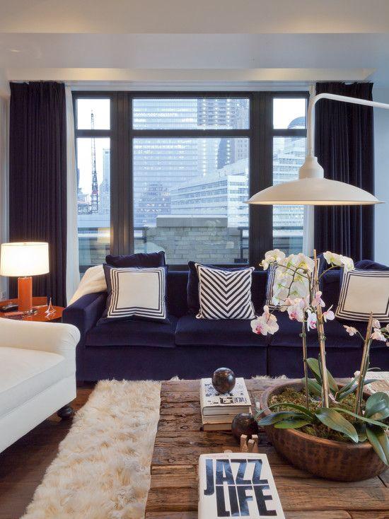 Living Room Navy Blue Sofa - Euskal.Net