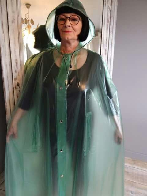 Pin By Justina Juju On Granny Plastic Raincoat Plastic