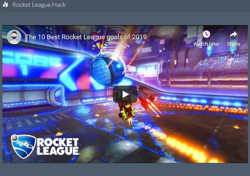 Rocket league codes 2020