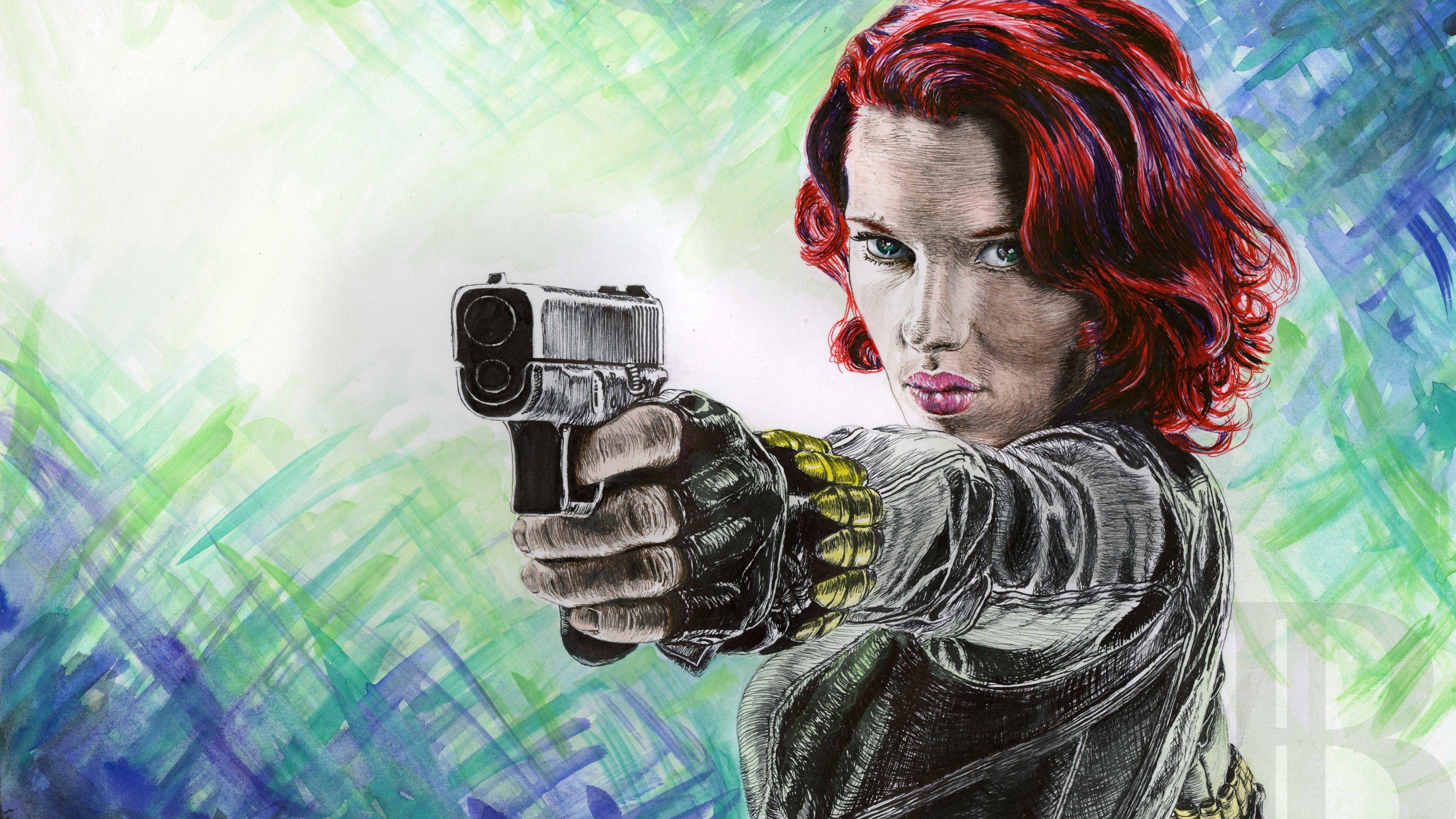 Black Widow 4k Artwork Superheroes Wallpapers Hd Wallpapers