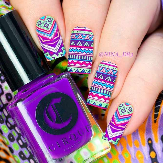 Bright Nail Designs To Finish Summer Look Picture 3