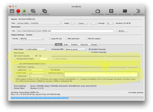 "A ""best settings"" guide for Handbrake 0 9 9 and 0 10 