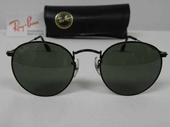4f9aa90f8b New Vintage B L Ray Ban Classic Round Metal Black Chrome G-15 52mm W0608  Sunglasses usa