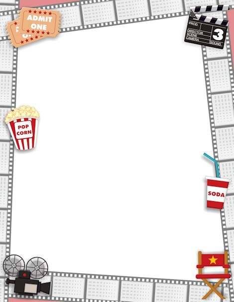 Printable movie border Free GIF, JPG, PDF, and PNG downloads at - border paper template