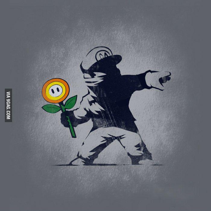 Banksy Mario