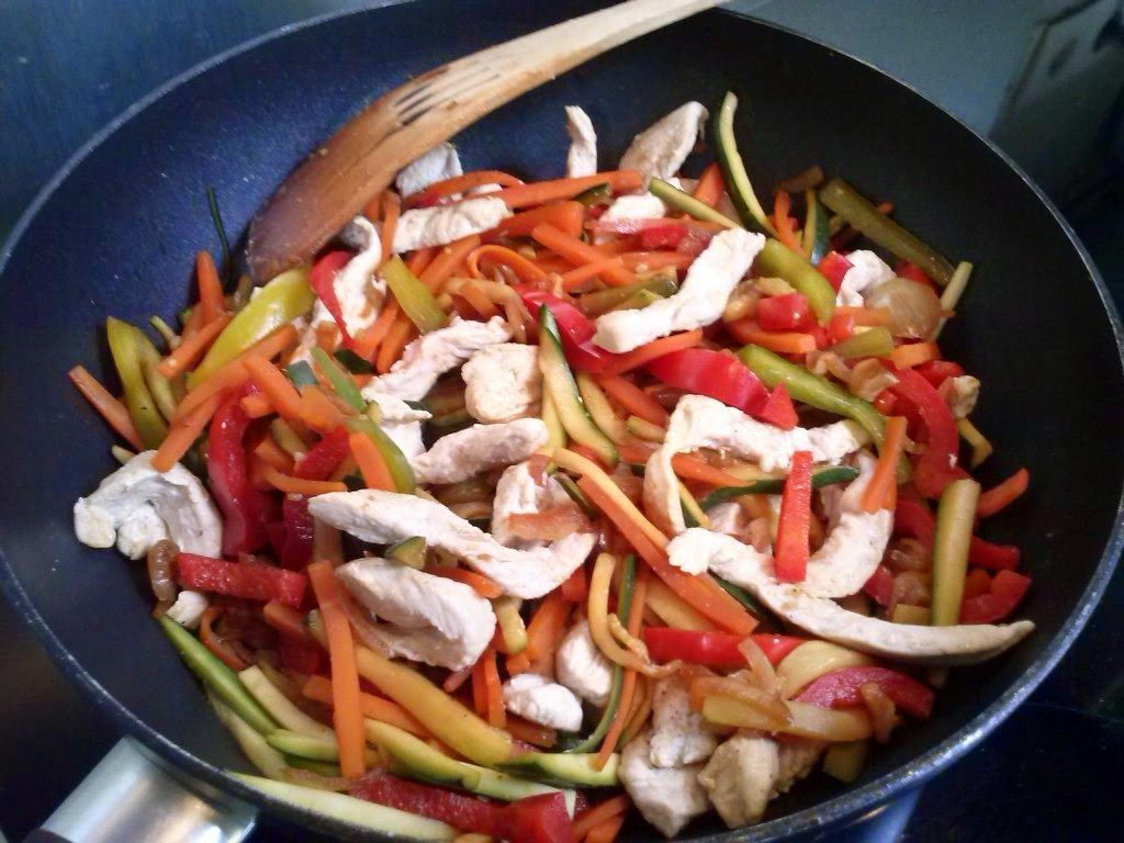 a b c vos ig: wok de légumes et volaille | idées recettes viandes à