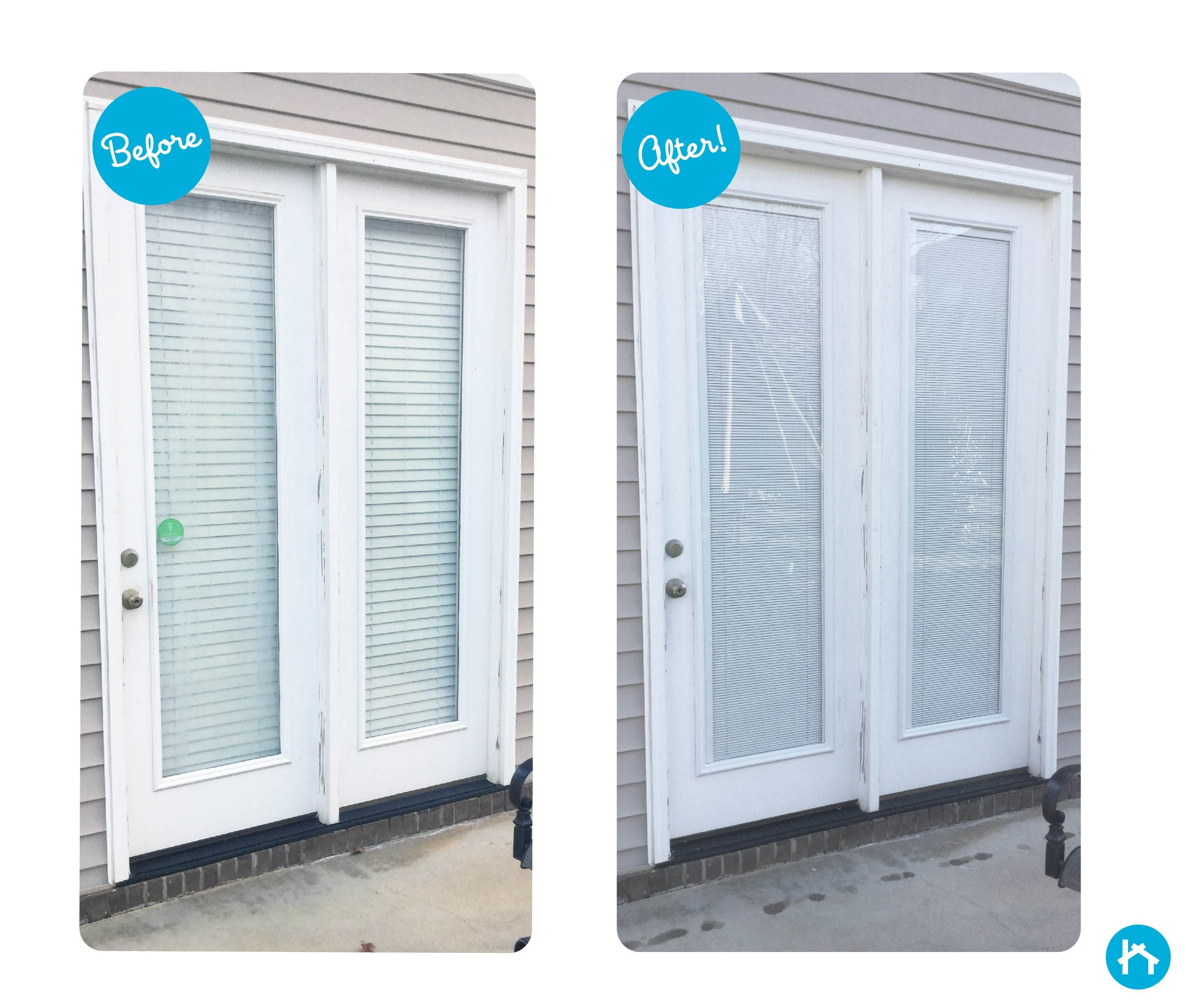 Adding blinds between glass is a perfect way to upgrade your door