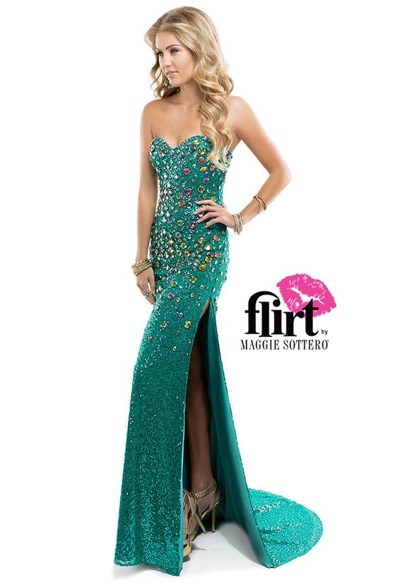 Sequin slim dress by Flirt with sweetheart neckline, multi-colored ...