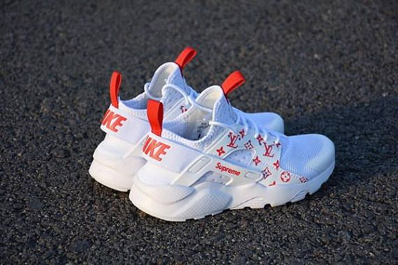 big discount great prices info for Men Custom Nike Huarache SUPREME X Louis Vuitton | Huaraches, Nike ...